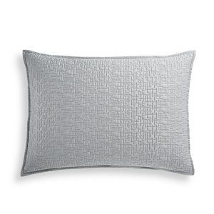 Hotel Collection Willow Bloom Quilted Sham, Gray
